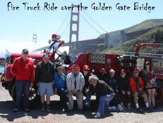 Fire Truck Ride over Golden Gate Bridge